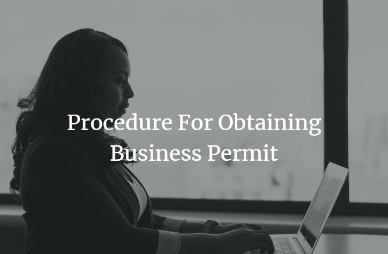 procedure for obtaining business permit